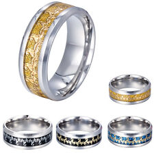 8MM Fashion Men's Stainless Steel Titanium The Scorpion King Band Ring Size 7-12