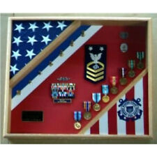 Coast Guard Flag Display Case Hand Made By Veterans