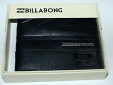BILLABONG WALLET NEW MENS COVERT 2 black 100%  REAL LEATHER MENS SURF Bifold