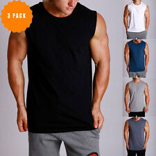 New Mens MUSCLE TOP Gym bodybuilding Singlets Y back Muscle Tank ZYZZ 3 Pack