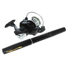 Portable Mini Aluminum Alloy Pocket Pen Fishing Rod Pole + Reel Combos Fish N8H2