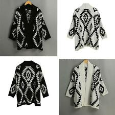 Women's Pullover New Casual Loose Batwing Sleeve Cardigan Sweater Tops Coat L4P7