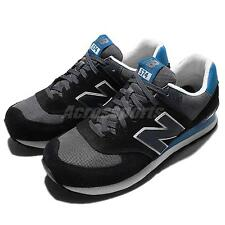 New Balance ML574CPU D Suede Black Blue White Mens Running Shoes ML574CPUD