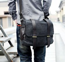 Mens Casual Vintage Canvas Backpack Satchel Shoulder Rucksack Messenger Bag