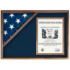 Flag and Military Insignia Display Case Hand Made By Veterans