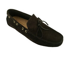 CALZOLERIA PARTENOPEA moccasin suede unlined Dark brown 100% leather