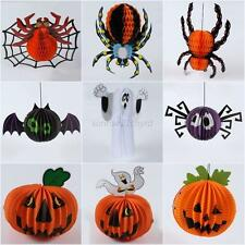 Halloween Paper Hanging Spider Pumpkin Hanger Party Club Festival Decor Props