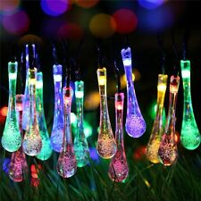 30 LED Outdoor Solar Powered String Light Garden Path Yard Landscape Lamp Decor