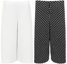New Womens Plus Size Dogtooth Tie Dye Print Wide Leg Culottes Shorts 12-22