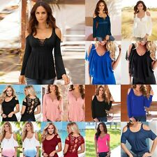 Fashion Women's Loose OFF Shoulder Tops Casual Blouse Sexy T-Shirt Pullover HOT