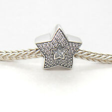 Genuine Authentic S925 Silver Wishing Star CZ Bead Charm