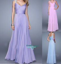 Sweetheart Chiffon Evening Prom Dresses Formal Party Bridesmaid Dress Ball Gown