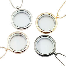 1pcs Floating Charming Living Memory Glass Round Locket Charms Pendant Necklace