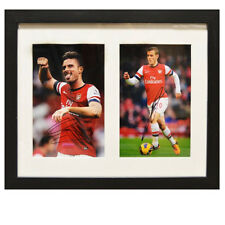Olivier Giroud & Jack Wilshere Framed Signed Photos