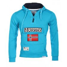 Géographical Norway Homme - Sweat à capuche Gymclass turquoise