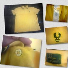Fred Perry Brazil World Cup 2010 Tournament Yellow Polo Shirt Limited Edition
