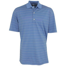 Greg Norman Men's Pique Striped Polo Golf Shirt, Brand New