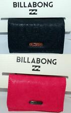 BILLABONG WALLET PURSE CLUTCH LADIES NEW MADDISON Black Raspberry PU TRIFOLD