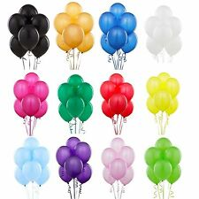 "10"" HELIUM QUALITY LATEX BALOONS WEDDING BALLOONS IN 16 COLOURS BALLOONS RIBBON"