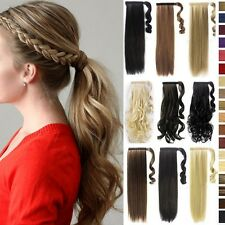 New Clip In Ponytail Pony Tail Hair Extension Wrap On Human Hair Extension tk6