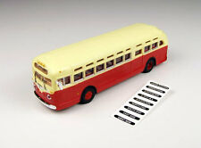 Classic Metal Works 32306 HO Mini Metals GMC TD 3610 Transit Bus - Red with Crea