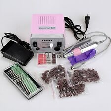 Pro Electric Nail Art Drill File Improved Overheat + Vibration Manicure Set TXWD