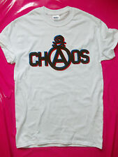 PUNK ROCK Chaos & Anarchy pistols white t-shirt BOY seditionaries style repro 77