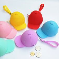 Hat silicone zero wallet  1pcs coin Candy color novelty purse,lady coin wallets