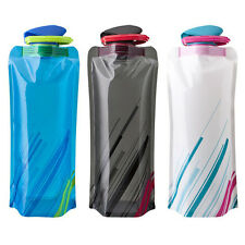 700mL Foldable Reusable Sport Water Bottle Bag Outdoor Camping Hydration Packs