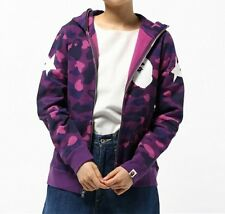 A BATHING APE COLOR CAMO FULL ZIP HOODIE 3 colors Ladies BAPE Jacket From Japan