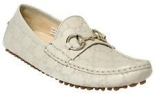 GUCCI 258327 Women's Guccissima Leather Horsebit Driver Moccasin 38.5 US8.5