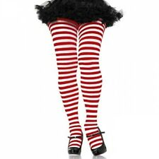 Striped Tights (3x - 4x) Red/White