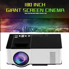 "180"" Portable Mini 1500 Lumens 1080P LED LCD Projector HD Home Theater HDMI VGA"
