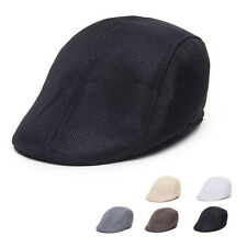 New Mens Fashion Retro NewsBoy Golf Hat Beret Flat Cap Countryside Style Cap Hat