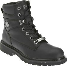 """Harley-Davidson® Men's 6"""" Austwell Black Leather Motorcycle Riding Boots D94194"""