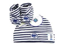 Penn State Nittany Lions Striped Infant Newborn Hat Booties Baby Gift Set  PSU