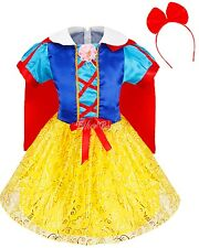 Age 4-14 Children Girls Snow White Princess Fancy Dress Costumes Kids Fairytale