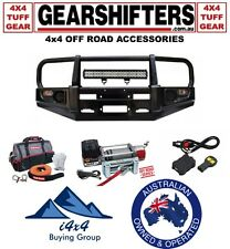 NISSAN PATROL GU UTE CLASSIC BLACK BULL BAR 2007 ON 4X4 COMBO COIL ONLY WINCH
