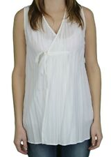 STEVEN ALAN Women's Solid Off White Tunic Wrap Reese Top WST105CTO $168 NWT