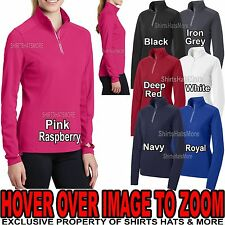 Ladies Textured Wicking 1/4 Zip Stretchy Jacket Wind Shirt XS-XL, 2XL, 3XL, 4XL