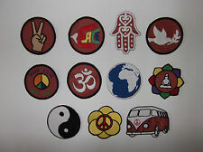 Hippie patches Peace patch ,HIPPIE VAN patch , yin yang patch ,SEW ON patch