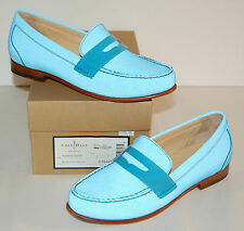 New $198 Cole Haan REFLECTIVE Nike Air Monroe Penny Blue Topaz Loafer