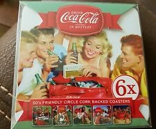 Coca Cola Coasters set of 6 new & boxed 50s friendly circle.  Christmas present