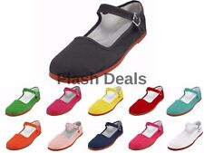 Womens Mary Jane Shoes Cotton Ballerina Ballet Flats Slip On Sandals