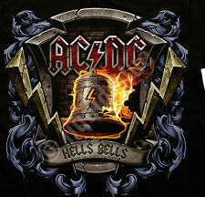 AC DC - HELLS BELLS Lightning Bolt  T SHIRT