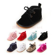 Infant Toddler Baby Boy Girl Soft Sole Crib Shoes canvas Sneaker size to 18m QTO