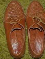 Ladies TAN Oxford Shoes Size 81/2 M Dexter
