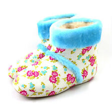 Floral Womens Ladies Winter Warm Soft Indoor Home House Slippers Shoes Booties