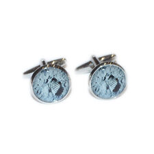 One Small Step for Man Footprints on the Moon Cufflinks & Gift Pouch
