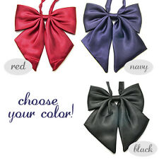 Japanese School Girl Uniform Bow Plain Color Cute Bowknot Tie Adjustable Cosplay